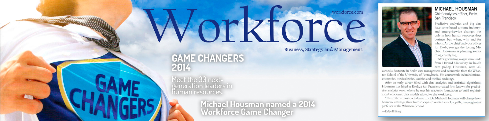 Michael Housman Named 2014 Game Changer by Workforce Magazine