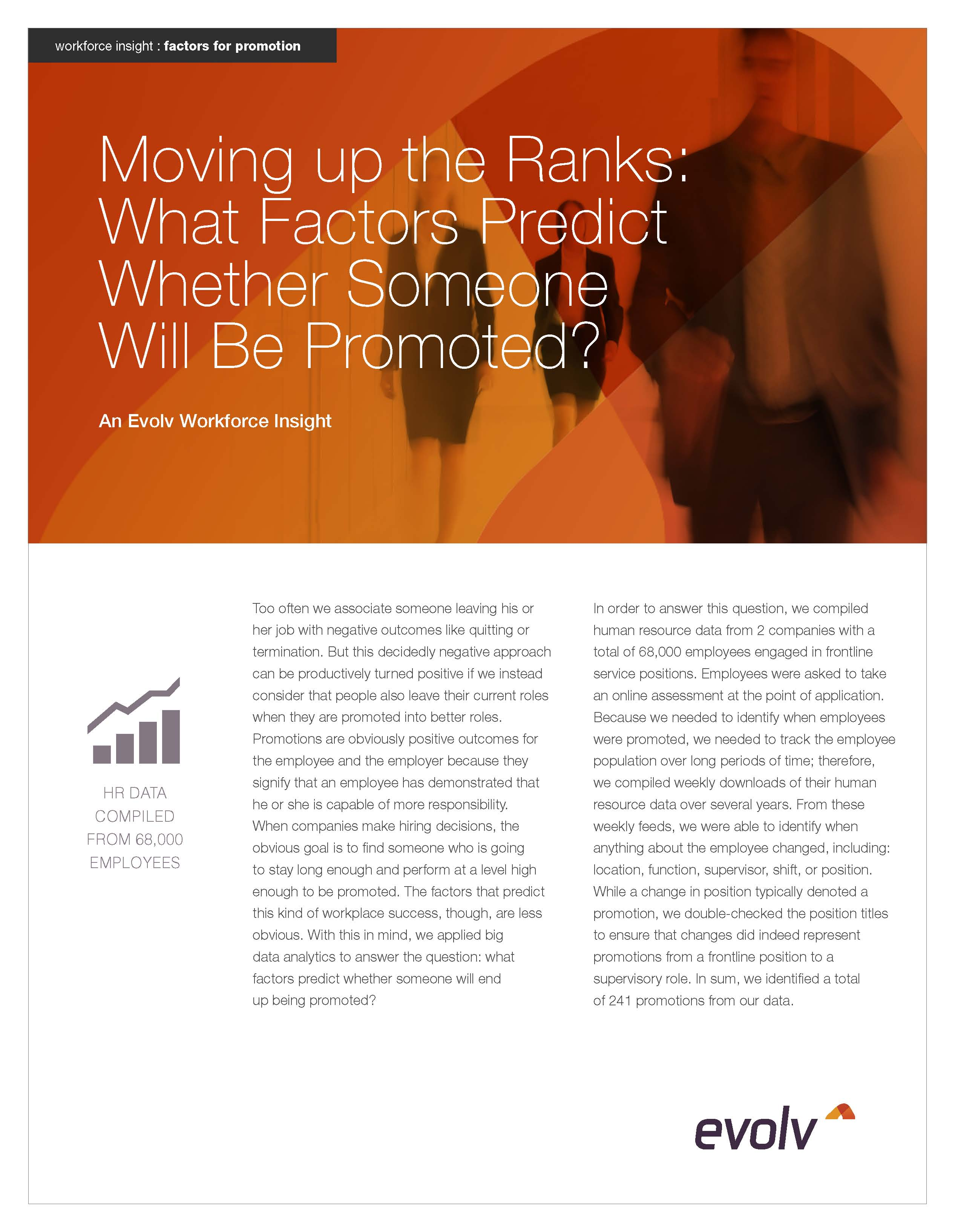 Moving up the Ranks: What Factors Predict Whether Someone Will Be Promoted?