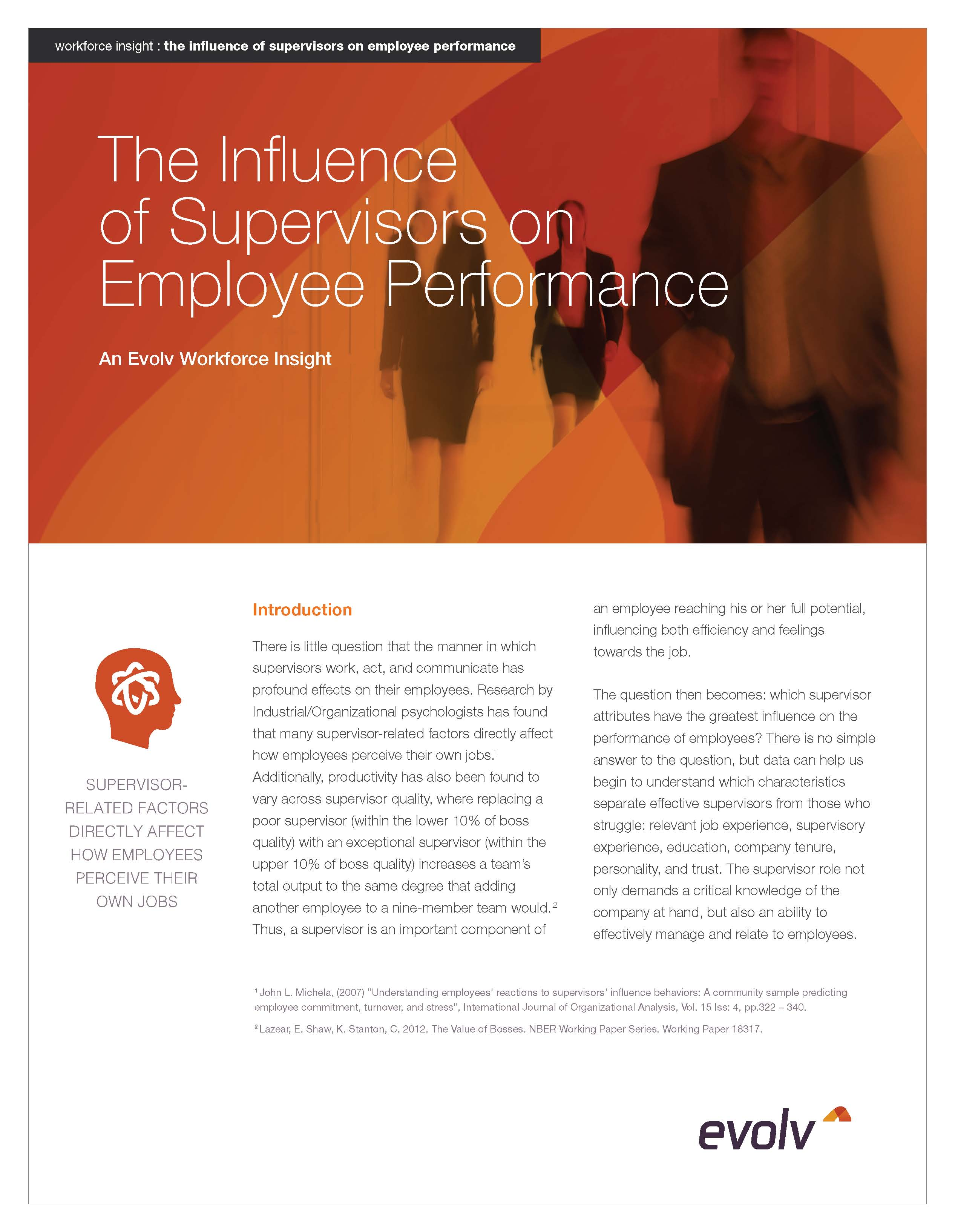The Influence of Supervisors on Employee Performance